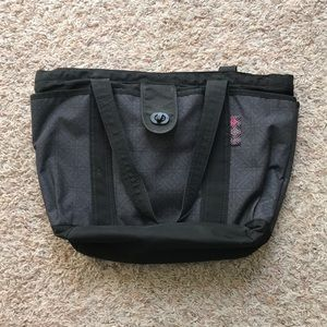 Adidas black and gray/purple tote bag